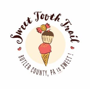 logo got a Sweet Tooth Trail with an ice cream cone, cupcake, and piece of candy.