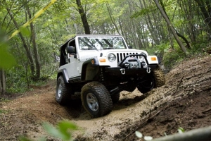 silver jeep off-road