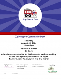 Zelienople Community Park Big Truck Day, 8/29/2020, 11am-2pm