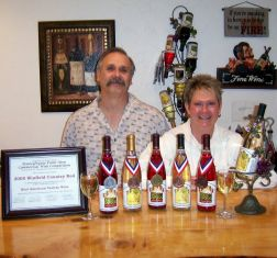 Photo of Winfield Winery wines, awards and the owners