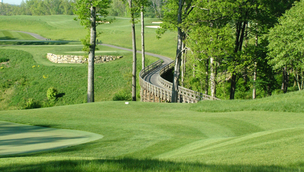 A green golf course in Butler County, PA.